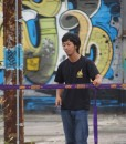 Andy-Lewis-knows-how-to-setup-gibbon-surfer-line-with-classic-ratchet-new-zealand-graffiti-design