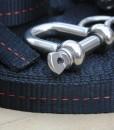 Primitive slackline kit shackle pulley system