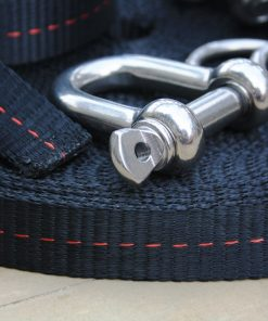 Primitive slackline kit shackle pulley system