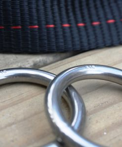Primitive travel slackline kit 25mm line locker rings