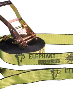 elephant-slacklines-rookie-15meter-fluro-yellow-tree-protection-included