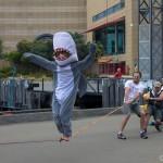 human-slackline-shark-costume-wellington-te-papa