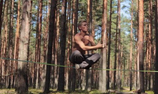 jaan-roose-slacklining-solo-forest-new-zealand