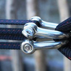 shackle pulley slackline system