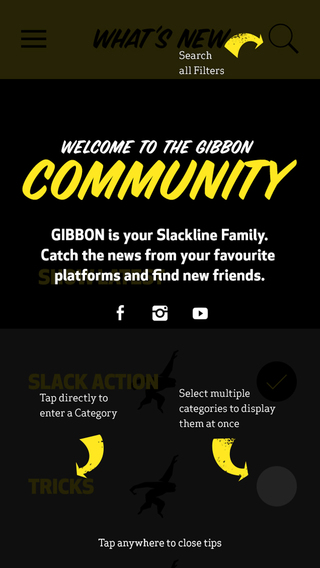 slackline-community-new-zealand-world-wide-gibbon-slackline-smartphone-app-testimonial-start-screen