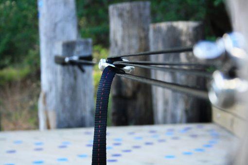 primitive slackline pulley system