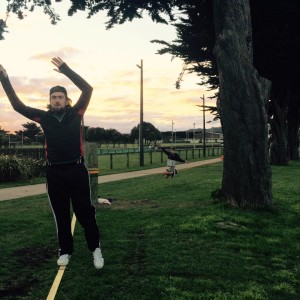 slackline-session-porirua-posts-slacklining-without-trees-new-zealand